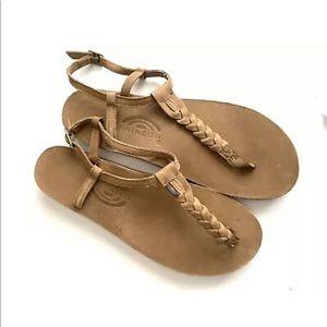 Rainbow T Street braided thongs sandals